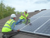 Solar Panels fitted to a domestic roof in Wakefield
