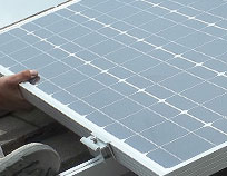 Aligning PV panels for fitting