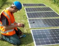 Testing solar panels before fitting