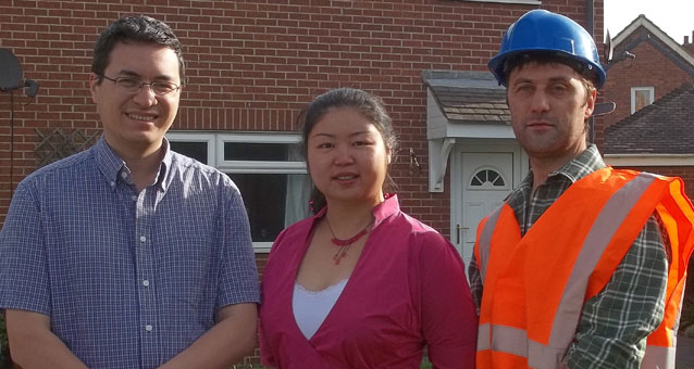 Your solar powered team of Philip Chow, Helen Chen and Gareth Ayres