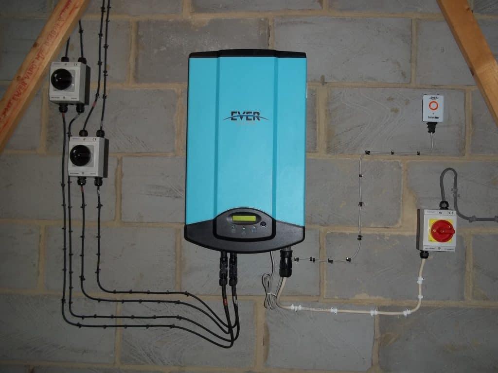 Eversolar 4000GB inverter to convert the solar power