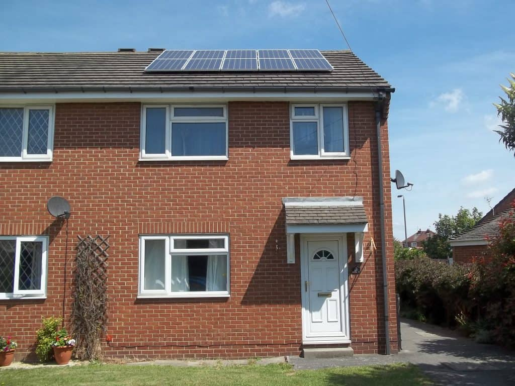 The completed installation of Solar PV panels