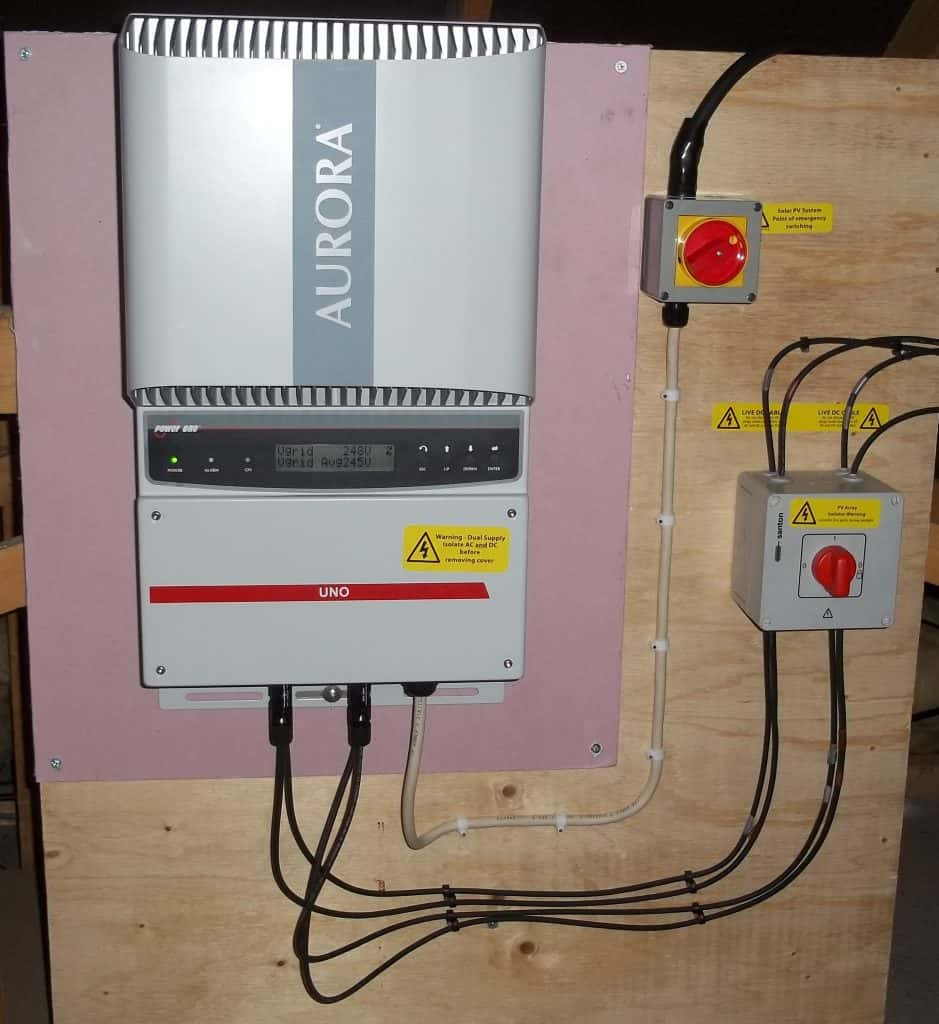 Solar PV Inverter in Loft
