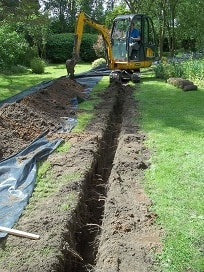Digging Trench for Solar Cable York